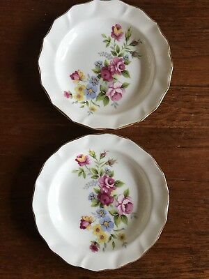 Vintage Two Duchess Bone China Made In England Butter/Pin Dishes
