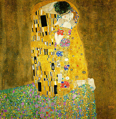 The Kiss by Gustav Klimt A2+ High Quality Canvas Print