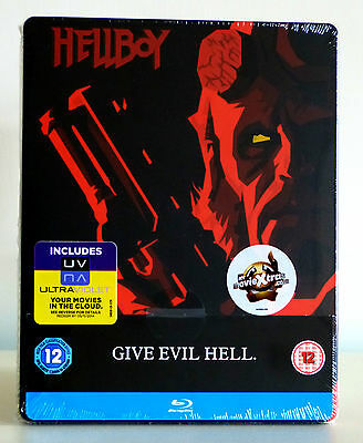 Hellboy (UK Limited Edition Steelbook) Blu-ray, New