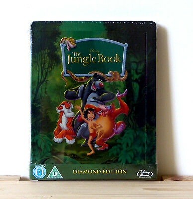 Disney - The Jungle Book (Zavvi Exclusive Steelbook) Blu Ray, New, OOP