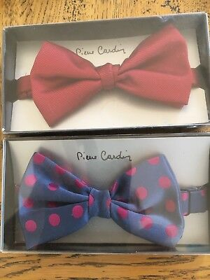 2 Pierre Cardin Bow Ties As Pictured New In The Box