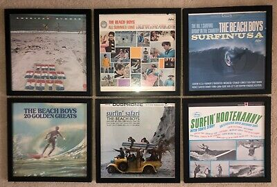 Vintage Surfin Themed Framed Album Covers The Beach Boys 5 Tom And Jerry 1