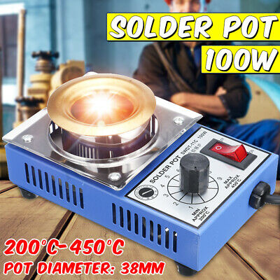 CM360A 100W 200-480 °C Solder Pot Soldering Desoldering Stainless Steel Plate