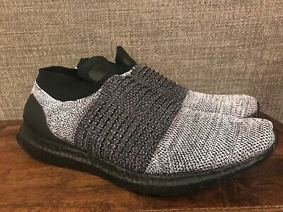 337340a2e65b3 Adidas Men s UltraBoost Laceless Running Shoes Triple Black Oreo Size 13  BB6137