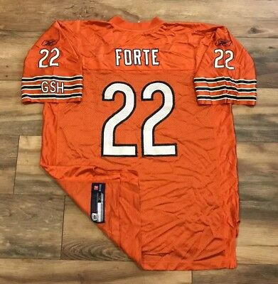 Chicago Bears Matt Forte  22 Reebok Alternate Orange NFL Football Jersey  Mens XL 089700556
