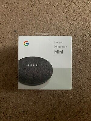 Google Home Mini Smart Speaker Assistant - Charcoal