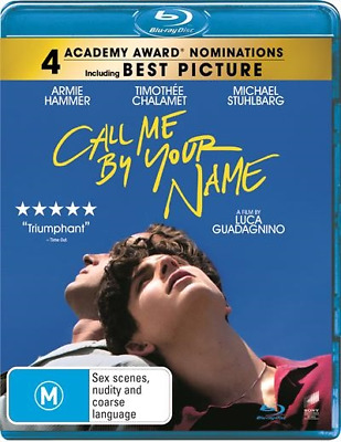 Call Me By Your Name : NEW Blu-Ray