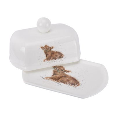 Wrendale Designs Single Mug by Royal Worcester Butter Dish Highland Cow