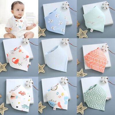 Infant Baby Cotton Bandana Bibs Feeding Head Scarf Saliva Towel Triangle Dribble