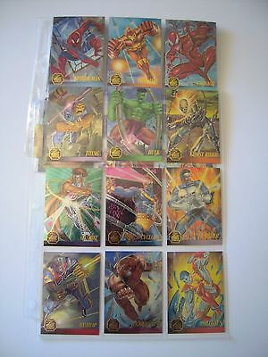 Marvel Flair 95 Annual Set Complet De 12 Chromium  Bonus Limited Edition    Tbe