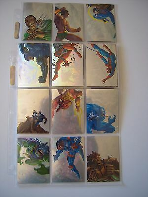 Marvel Flair 95 Annual Set Complet De 12 Holoblast Bonus Limited Edition    Tbe