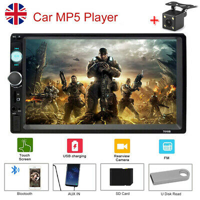 """7"""" Double 2 Din Car Stereo Touch MP5 Player AUX USB FM Radio For IOS for Android"""