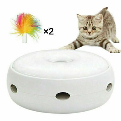 Electric Pet Cat Toy Carousel Interactive Kitten Rotating Automatic Funny Toy UK