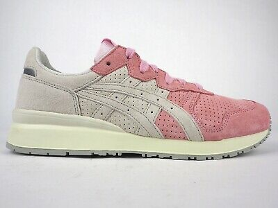 finest selection aff5e 87c35 ONITSUKA TIGER ALLY D701L 2090 Pink Light Grey Lace Up Leather Casual  Trainers