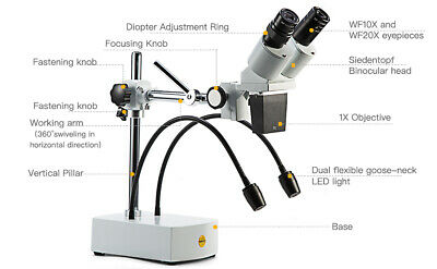 SWIFT 1000X Zoom 8 LED USB Microscope Digital Magnifier Endoscope Video w/Stand