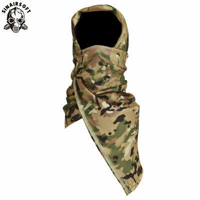 Tactical Camo Mesh Wrap Neck Scarf Military Sniper Face Veil Mask Army Outdoor