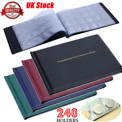 240 Coins Collection Album Penny Money Storage Case Holder Coin Collecting Book