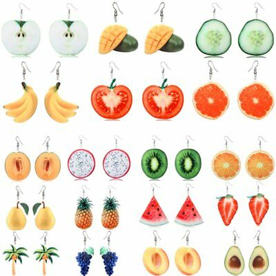 Fashion Orange Watermelon Strawberry Drop Dangle Hook Fruit Earrings Jewellery