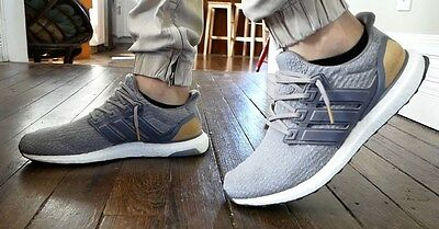d4c82655a5343 Adidas Ultra Boost LTD Limited Leather Cage Grey Gray 9UK 9.5US 43.3EU  BB1092