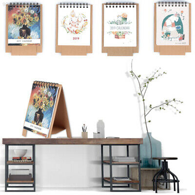 8F74 Fodable Memo Pad Planner Scheduler Monthly Animal 2019 Calendar