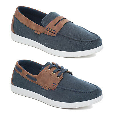 Dr Keller Mens Canvas Deck Boat Shoes Casual Walking Trainers Pumps Plimsolls