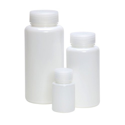 AZLON BLH0100P Plastic, Bottle, Wide Neck, HDPE, 100 ml Pack of 10
