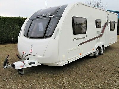 2014 Swift Challenger 590 Se, Quad Motor Mover, 6 Berth Fixed Bed