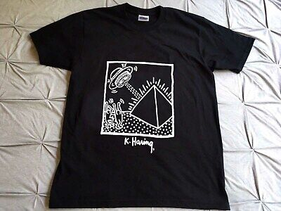 346d827bb VINTAGE KEITH HARING Pop T-shirt Spell Out Pop Art Andy Warhol Peter ...