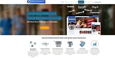 Social Media Marketing & Reputation Monitor Software - $1/ day Free Ship