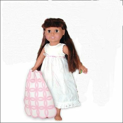 "Doll Clothes 18"" Nightgown White Eyelet Springfield Fits American Girl Dolls"