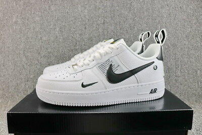 NIKE AIR FORCE 1 07 LV8 Utility White - Black Mens Shoes AF1 Sneakers New