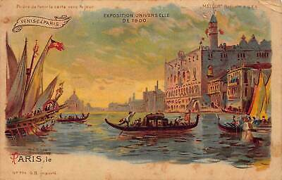 France Paris Exposition Universelle de 1900 Gondola Postcard