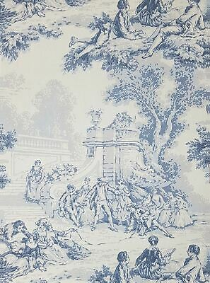 Toile De Juoy Wallpaper Floral Blue Grey Beige French Scenic Paste The Wall