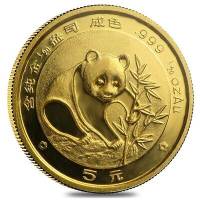 1988 1/20 oz Chinese Gold Panda 5 Yuan BU (Sealed)