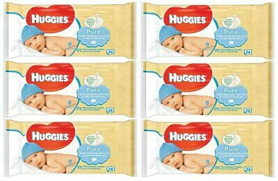 HUGGIES BABY WIPES PURE 56ct (6 PACK)