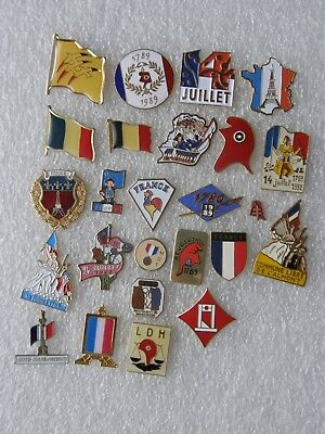 lot de 25 pin's sur la FRANCE , REVOLUTION FRANCAISE