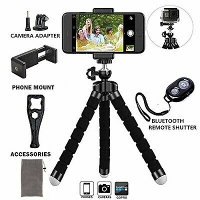 FLEXIBLE SMARTPHONE OCTOPUS Tripod Bluetooth Remote for