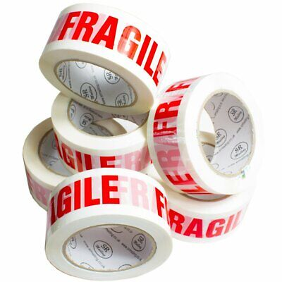 White Fragile Very Strong Parcel Packing Tapes 48mm x 91m(100yards) Safety Tape