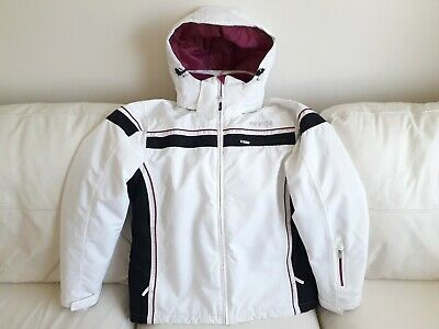NEVICA UK 16 Ladies Ski Jacket Ladies Winter Snow Sports White Deep Pink 00a810091