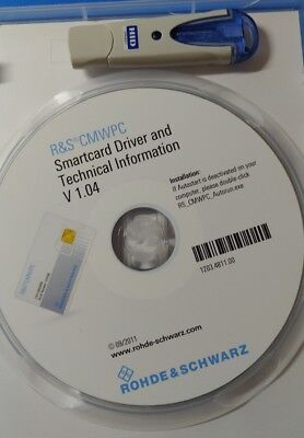 R&S CMW PC Software license key 1201.0002K90 and Omnikey 6121 dongle CMWPC S089A