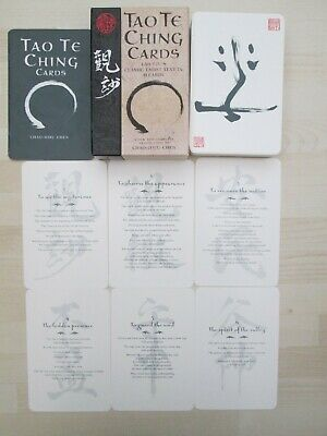 """Rare """"TAO TE CHING Cards"""" 81 Oracle cards & booklet set by Lao Tzu."""