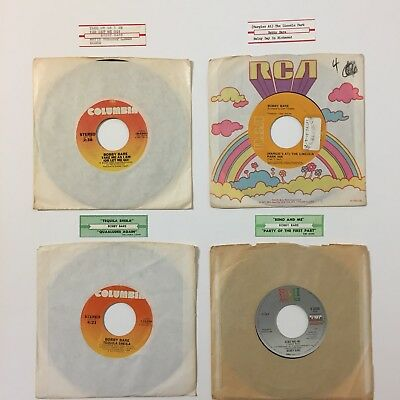 Lot 4 Bobby Bare Singles Jukebox Strips Vinyl Records Put A Little Lovin On Me
