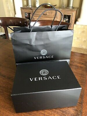 f47bc1e12c VERSACE BAG SHOPPING Bag Box Dust Bag Complete Gift Wrapping Set ...