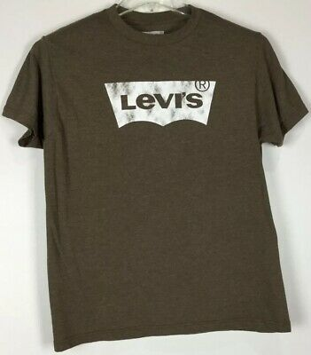 Mens Levis T Shirt Medium Graphic Tee Short Sleeve Crew Cotton Blend
