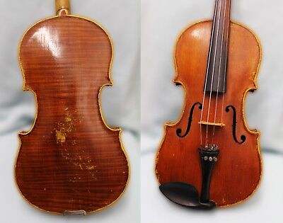 4/4 FINE IMPRESSIVE Amazing 100+ years OLD ANTIQUE VIOLIN GUTSY AND FULL SOUND