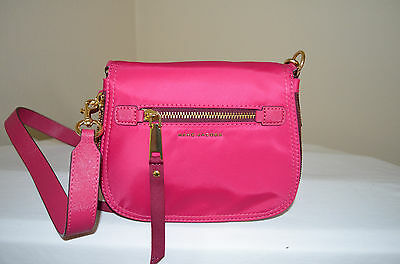 c2b4436b2bc6 NWOT  250 MARC Jacobs Trooper Nomad Small Nylon Saddle Bag Hibiscus ...