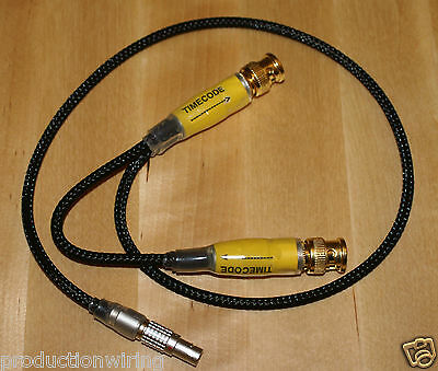 *5 PIn Lemo to XLR Male BNC In Out Timecode Cable* Sound Devices 633 Deva Nomad
