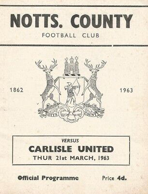 Notts County v Carlisle United, 21 March 1963, Division 3