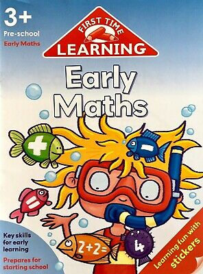 Early Maths, First Time Learning Preschool Age 3+ Children's Book Key Skills New