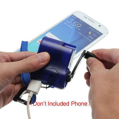 USB Hand Crank Emergency Dynamo Charger Generator Cell phone Mobile Portable